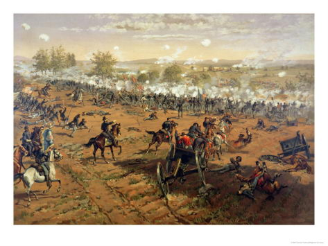 Battle of Gettysburg at Pennsylvania - Battle of Gettysburg facts
