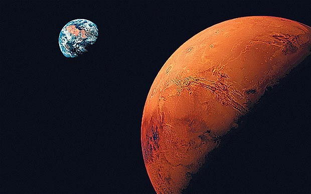 Earth versus Mars Planet - Pics about space