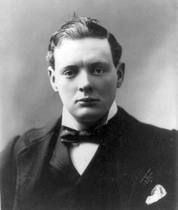 A 21-year-old Churchill in Army uniform - Winston Churchill Facts For Kids