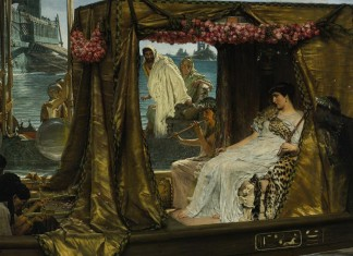 Cleopatra with Mark Antony - Cleopatra Facts For Kids