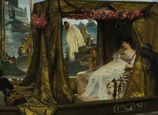 Cleopatra with Mark Antony - Cleopatra Facts For Kids