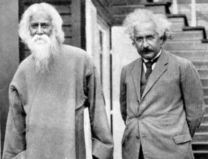 Einstein with Rabindranath Tagore - Albert Einstein Facts For Kids