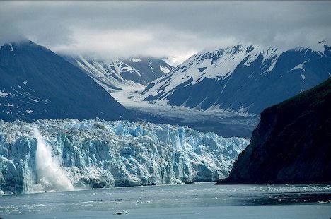 A Glacier Calves near Yakutat
